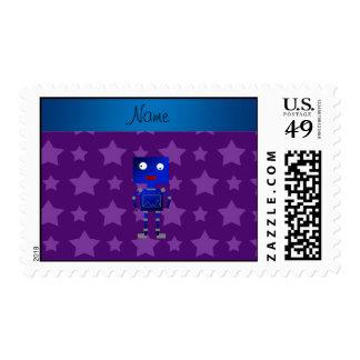 Estrellas azules conocidas personalizadas de la timbres postales
