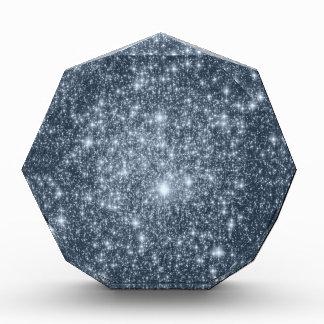 Estrellas azules de acero oscuras