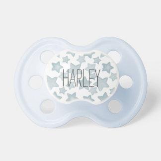 Estrellas azules de la acuarela chupetes para bebés