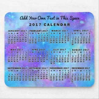 Estrellas azules de la acuarela del calendario tapetes de ratones