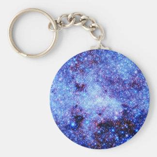 Estrellas azules de la chispa llaveros personalizados