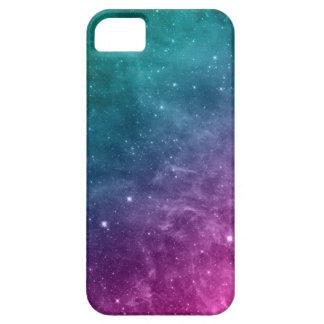 Estrellas azules de la nebulosa del rosa del funda para iPhone 5 barely there