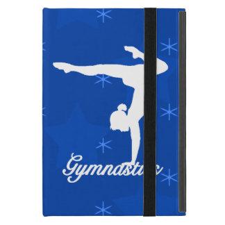 Estrellas azules del chica de la gimnasia iPad mini cárcasa