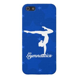 Estrellas azules del chica de la gimnasia iPhone 5 fundas