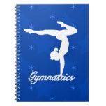 Estrellas azules del chica de la gimnasia libro de apuntes
