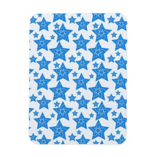 Estrellas azules del día de fiesta del navidad fre imanes