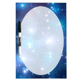 Estrellas azules del universo + sus ideas pizarras blancas
