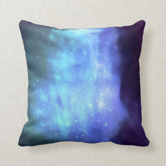 Estrellas azules en espacio almohada