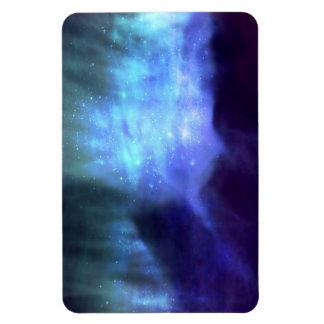 Estrellas azules en espacio imanes flexibles