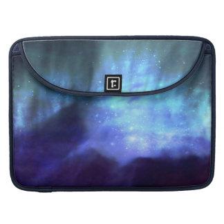 Estrellas azules en espacio funda para macbook pro