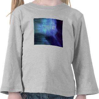 Estrellas azules en espacio camiseta