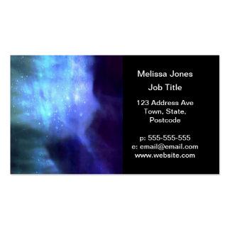 Estrellas azules en espacio tarjetas de visita