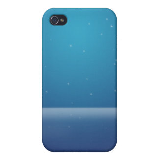 Estrellas azules iPhone 4 carcasa