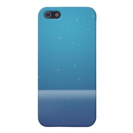 Estrellas azules iPhone 5 carcasa