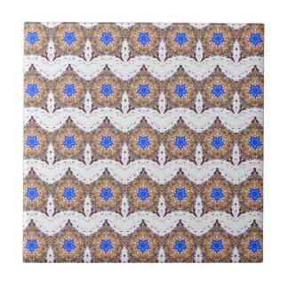 estrellas azules marroquíes y teja blanca de las