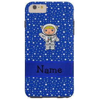 Estrellas azules personalizadas del astronauta funda de iPhone 6 plus tough