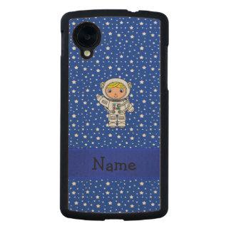 Estrellas azules personalizadas del astronauta funda de nexus 5 carved® de arce