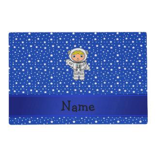 Estrellas azules personalizadas del astronauta salvamanteles