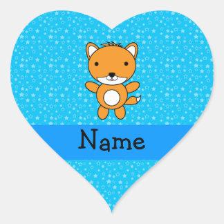 Estrellas azules personalizadas del zorro conocido etiquetas