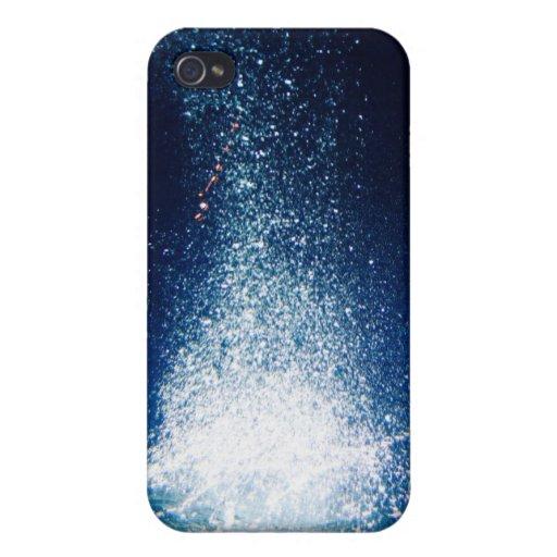 Estrellas azules profundas de la galaxia iPhone 4 protector