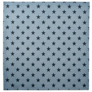 Estrellas azules servilletas imprimidas