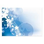 Estrellas azules tarjetas de visita