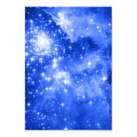 "Estrellas azules ultramarinas invitación 3.5"" x 5"""
