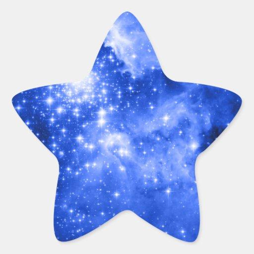 Estrellas azules ultramarinas pegatina en forma de estrella | Zazzle