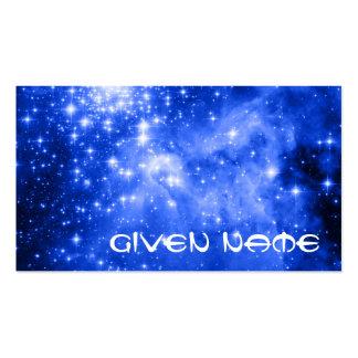 Estrellas azules ultramarinas tarjetas de visita