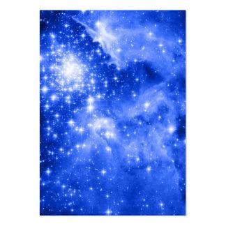 Estrellas azules ultramarinas tarjetas de visita grandes