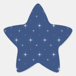 Estrellas azules y brillantes eléctricas - modelo pegatina en forma de estrella