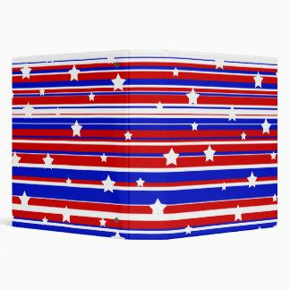"""Estrellas azules y rayas blancas rojas carpeta 1 1/2"""""""