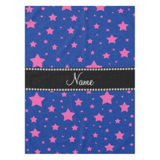 Estrellas azules y rosadas conocidas mantel de tela