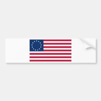 Estrellas Betsy Ross de la bandera 13 de los E.E.U Etiqueta De Parachoque