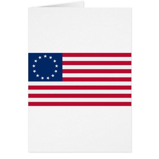 Estrellas Betsy Ross de la bandera 13 de los E.E.U Tarjeta De Felicitación