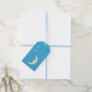 Estrellas blancas crecientes del blanco de la cara etiquetas para regalos