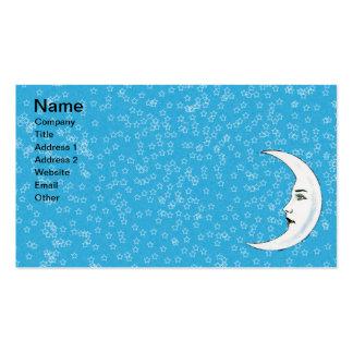 Estrellas blancas crecientes del blanco de la cara tarjeta de visita