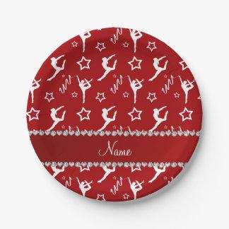 Estrellas blancas rojas conocidas personalizadas plato de papel de 7 pulgadas