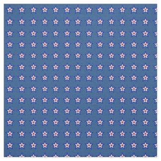 Estrellas blancas y azules rojas en tela azul telas