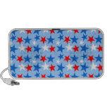 Estrellas blancas y azules rojas iPhone altavoces