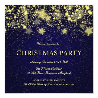 """Estrellas brillantes de la fiesta de Navidad Invitación 5.25"""" X 5.25"""""""