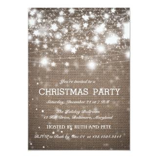 """Estrellas brillantes de la fiesta de Navidad Invitación 5"""" X 7"""""""