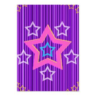 Estrellas brillantes de la plata en modelo azul comunicados personalizados