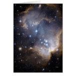 Estrellas brillantes de NGC 602 en la vía láctea Tarjetas