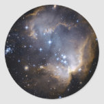 Estrellas brillantes de NGC 602 Pegatina Redonda