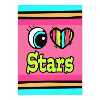 """Estrellas brillantes del amor del corazón I del Invitación 5"""" X 7"""""""
