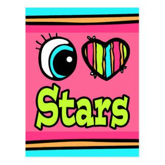 Estrellas brillantes del amor del corazón I del Postales