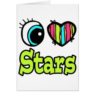 Estrellas brillantes del amor del corazón I del Tarjeta De Felicitación