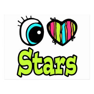 Estrellas brillantes del amor del corazón I del Tarjetas Postales