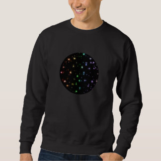 Estrellas brillantes del arco iris que brillan sudaderas encapuchadas